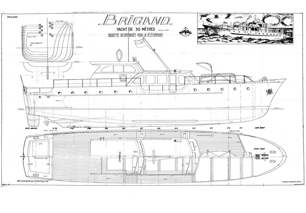 Plans De Maquettes De Bateaux Yacht Le Brigand New Cap Maquettes