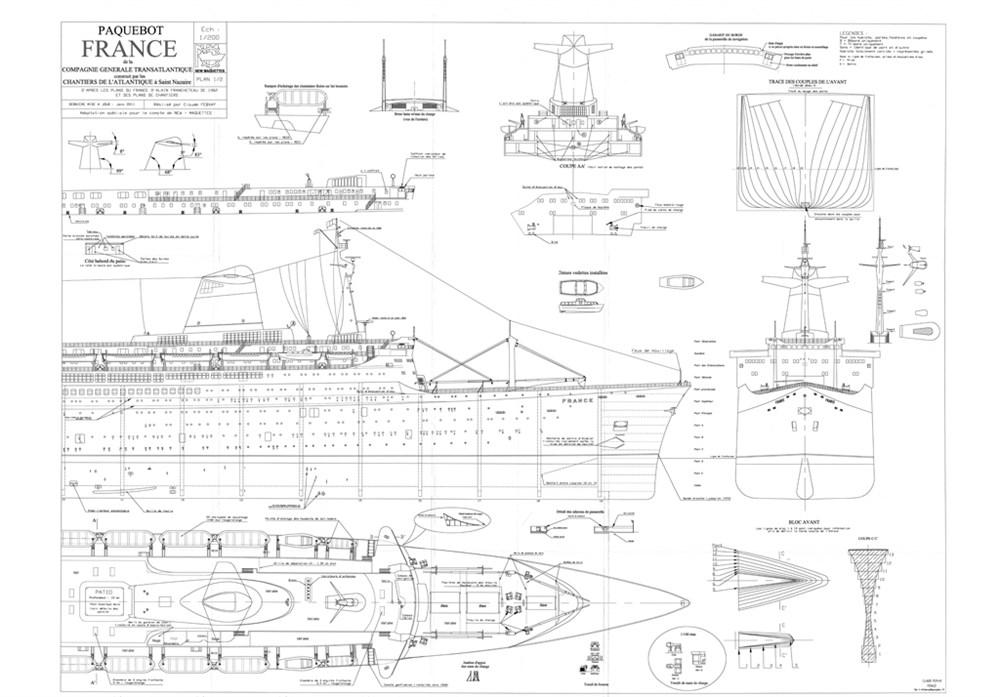 Plans Modelisme Naval Paquebot France New Cap Maquettes