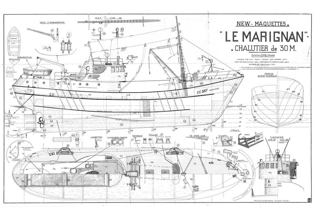 Plans De Bateaux De Peche Le Marignan