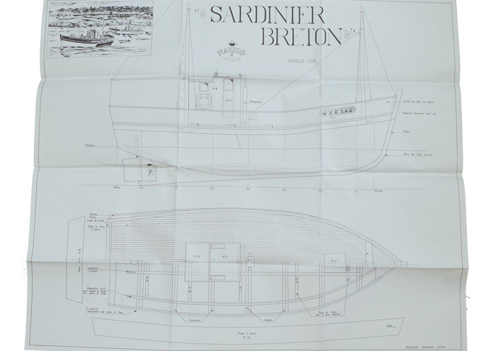 plans de bateaux de p u00eache   sardinier breton