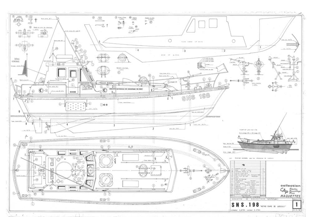 Plans De Bateaux De Sauvetage Sns 198 New Cap Maquettes