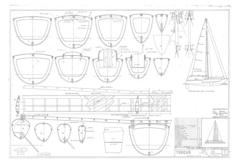 Plans De Maquettes De Voiliers Toucan