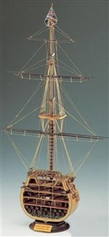 HMS Victory - Coupe au grand mât
