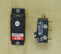 Lot microservo - microswitch