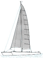 Plan du catamaran Le Mercure
